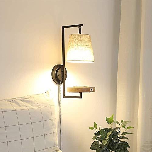 Lámpara de pared de enchufe de USB creativo con interruptor de la pared de la pared de la pared de la pared decorativa sala de estar de la pared de la pared de la pared de la pared de la pared de la p