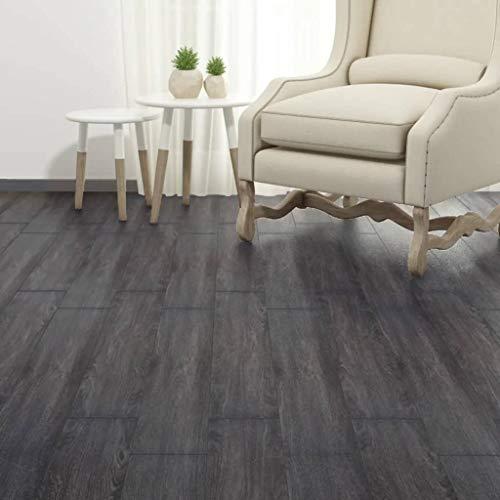 vidaXL PVC Laminat Dielen 5,02m² 2mm Selbstklebend Schwarz Weiß Vinyl Boden