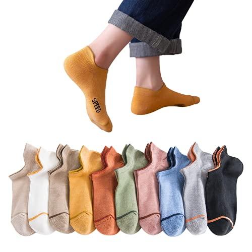 Caroleina 靴下 レディース くるぶしソックス 脱げないくつ下 蒸れないくつした 10足セット 可愛い靴下 アンクルソックス 抗菌防臭 通学 通勤 室内 アウトドア22~24cm