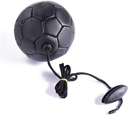 Plztou Balón de fútbol Fútbol Entrenamiento Bola Kick Balón de fútbol PVC Tamaño 2 Niños Adulto con Cadena Principiante Entrenador Práctico Cinturón Suministros Deportivos al Aire Libre