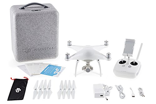 DJI CP.PT.000312.R Phantom 4 Renewed Drone Sports & Action Video Camera, Artic White (Renewed)