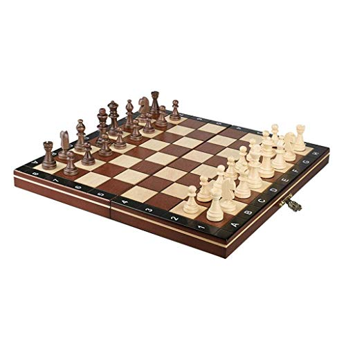Juego de ajedrez Nuevo ajedrez plegable con almacenamiento interno Tablero de ajedrez Piezas de ajedrez de madera Juegos de ajedrez Tablero de ajedrez Juego de entretenimiento Juegos de ajedrez