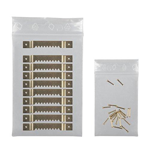 Leha® Bildaufhänger, 10 Stück mit Nägeln, Zackenaufhänger für Keilrahmen, Aufhänger für Holzrahmen, Aufhänger für Holz-Bilderrahmen, Bilderrahmenaufhänger