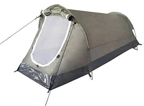 MFH 1 Personen Tunnelzelt Schwarzenberg Zelt Campingzelt 210x90x90cm (Oliv)