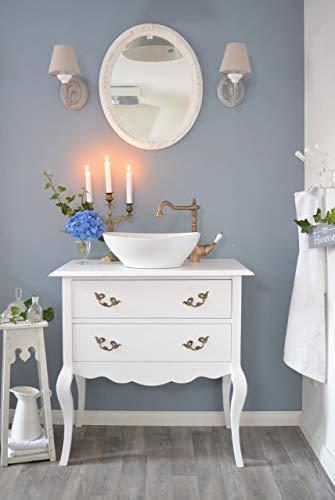 Romantischer Landhaus-Waschtisch Waschbecken mit Unterschrank Shabby-Chic Nostalgie Badezimmermöbel