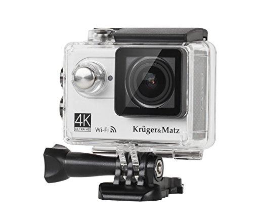 Krüger & Matz km01974K Sport Action Camera (5,1cm (2pollici), Display LCD, 12Megapixel, Video Full HD, 1080p, 30fps, grandangolo 30M profondità impermeabile, 170gradi per) argento