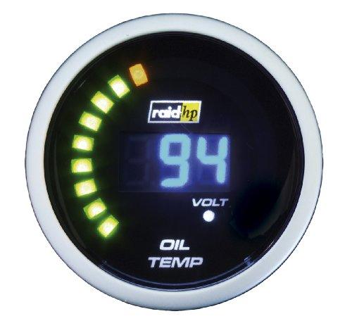 Raid HP 660503 Zusatzinstrument Öltemperaturanzeige Serie Night Flight Digital Blue
