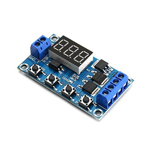 24574 Dual MOS LED Digital Retardo Tiempo Relay Disparador Ciclo Interruptor Circuito Placa de Control de Temporización Módulo DIY DC 12 V 24 V