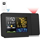 Kalawen Projection Alarm Clock with Outdoor Sensor, Personal Weather Station for Bedroom, Projector