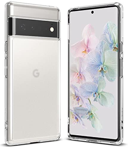 Ringke Fusion Kompatibel mit Google Pixel 6 Pro Hülle, Stoßfeste Matt Rückseite mit TPU Rahmen Schutzhülle mit Band-Löcher - Matte Clear