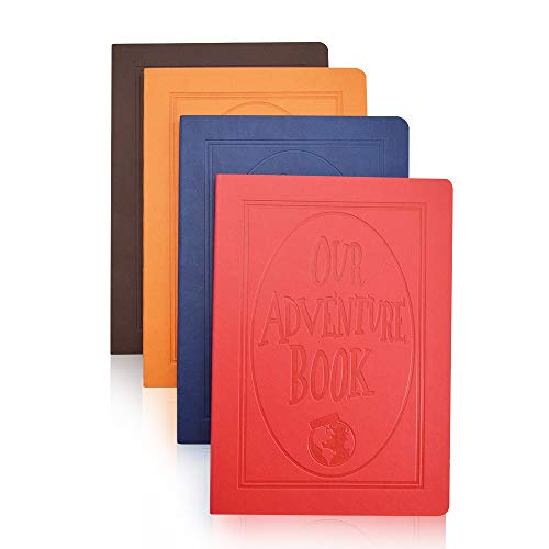 XYTMY Our Adventure Book-A5 Cuoio colorato Scrittura Notebook Diario del diario Notebook Notepad quotidiano Diario di viaggio carino (Set di 4, colori fissi)