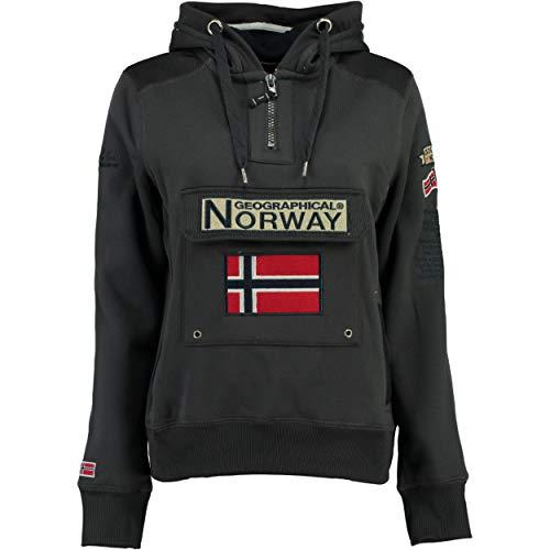 Geographical Norway GYMCLASS LADY - Sudadera Mujer Bolsillos Kangaroo - Sudadera Caliente...