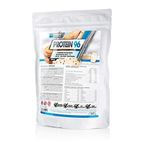 Frey Nutrition Protein 96 Cookies und Cream Zipp-Beutel, 1er Pack (1 x 500 g)
