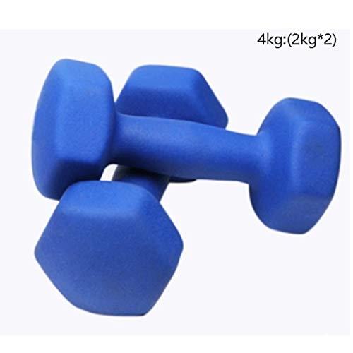 Xiix Kurzhanteln Hantel Hantelset 2ST Kinder Dumbells Outdoor-Fitnessgeräte Werkzeug Sport-Übung Schul Kleines Hantel (Color : Blue 4kg (2kg*2))