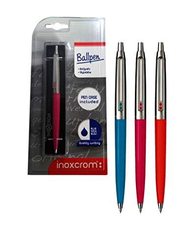 1 Bolígrafo Inoxcrom B-55 Fiesta con estuche y blister (colores surtidos al azar)