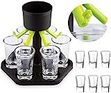 HITNEXT 6 Plastikschußspender und Halter, Schussspender, Schussgläser, Barglas-Spender für Füllung Getränke, Weine und Getränke
