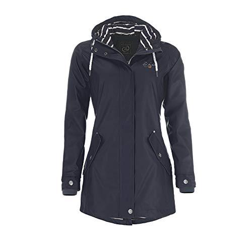 Dry Fashion Damen-Regenmantel Kiel Farbe Navy, Größe 44