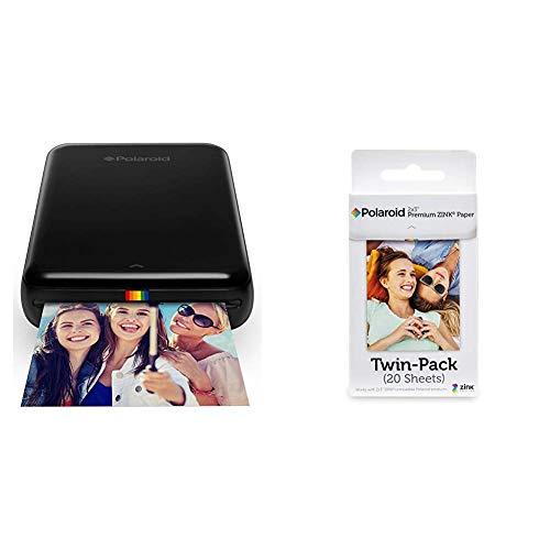 Polaroid ZIP, Stampante Portatile, Bluetooth, w/ZINK Tecnologia Zero Ink Printing, 5 x 7.6 cm & Premium Zink Carta Fotografica Compatibile con Polaroid Zip, Snap, Snap Touch