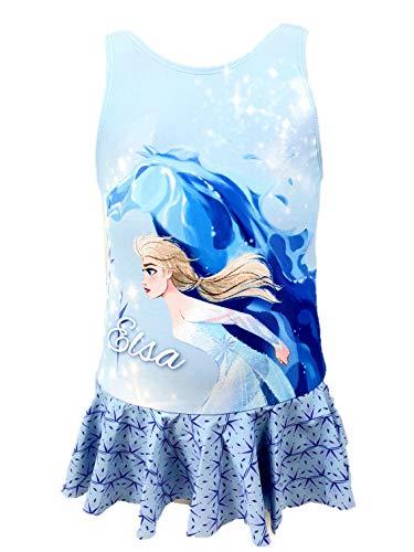 Frozen Die Eiskönigin Badeanzug (7-8 Jahre, Design 2 blau)