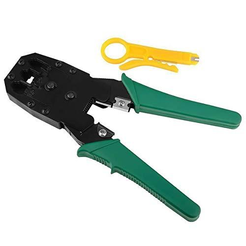 One-Step RJ45 Ratcheting Crimper voor Cat6A/Cat7 afgeschermde connector, LAN-kabel Crimpering Pliers Tools