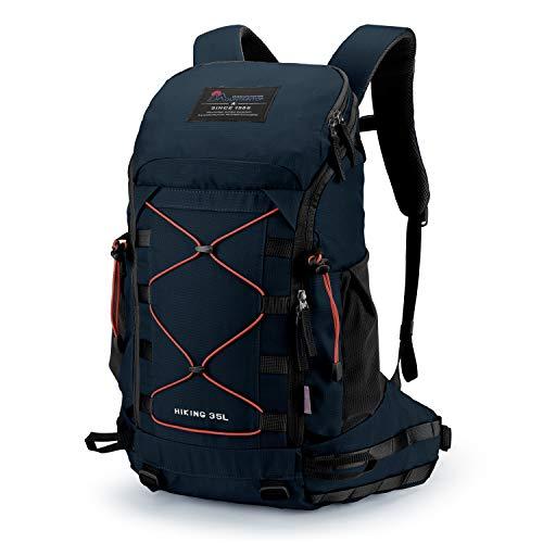 MOUNTAINTOP Rucksack 35L Wanderrucksäcke Trekkingrucksack Reiserucksack wanderrucksack Damen Herren Unisex Rucksack mit Regenschutz(Saphir Blau)