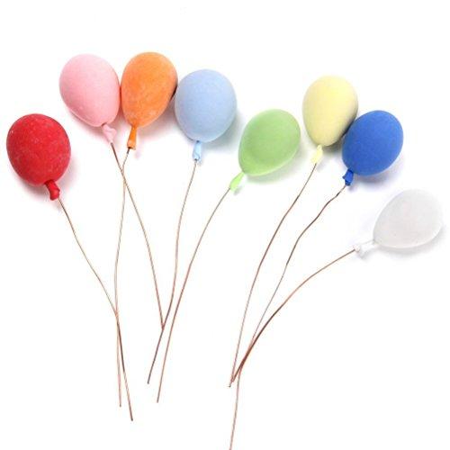 TOYMYTOY 8 Stück 1/12 Puppenhaus Miniatur Schaum Ballons