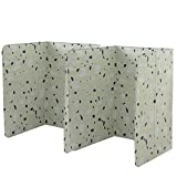 2Pcs Aluminum Foil Oil Splatter Shield Guard Oil Barrier Stove Cook Anti-Splashing Oil Baffle Heat Insulation for Stove Top Frying Pan Kitchen Cooking Area