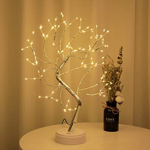 Luz del Árbol de Los Bonsais del LED, Ramas Ajustables, Luces de Mesa Artificiales de Bricolaje, Interruptor Tactil, Alimentación Por USB o Batería, para Habitación De Niños (Color : Style1)