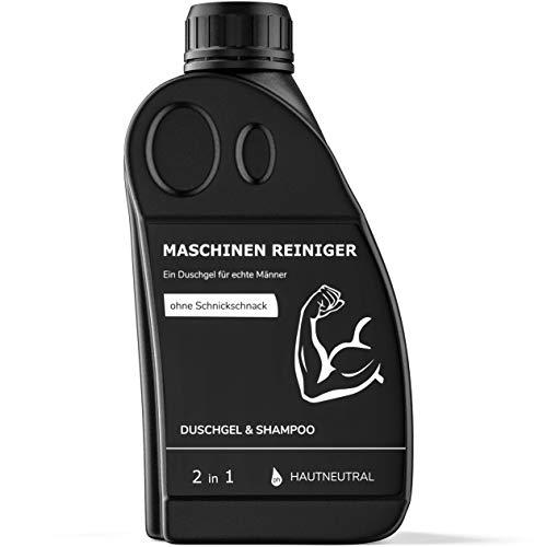 MASCHINEN REINIGER Duschgel für echte Männer | Witziges Geschenk für Fitness Sportler Bodybuilder