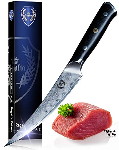 Boning/Fillet Knife: Best Quality Professional Japanese 6 Inch Razor Sharp AUS10 Premium High Carbon 67 Layer Damascus Stainless Super Steel Full Tang Chef's knives w/G-10 Handle By Regalia Knives