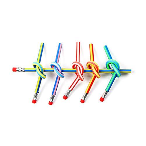 shyymaoyi Lot de 6 Crayons Souples et colorés avec Gomme pour Enfants Couleur aléatoire