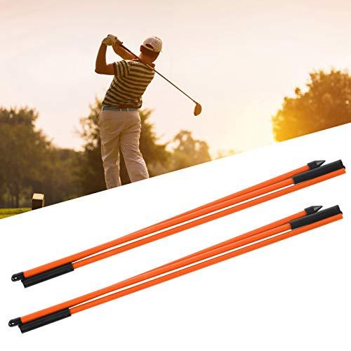 Qirg Golf Direction Indicator, Golf Indicator Stick Faltbare Golf Alignment Sticks für Park for Golf Field für Home for Gym(Orange)