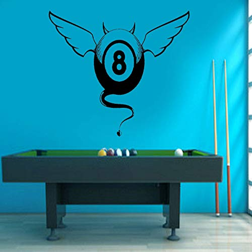 Billiard wall stickers billiard game decals snooker sports goods interior decoration removable mural wall stickers58 x 65 cm