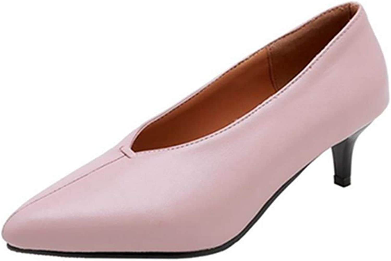 CuteFlats Women Casual Pumps with Kitten Heel