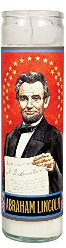 Velas de Saint Candle da The Unemployed Philosophers Guild feitas nos EUA, Abraham Lincoln