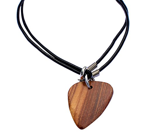 Timber Tones Guitar Plectrum Necklace - Pale Moon Ebony (Single), TIMT-PAME-NK