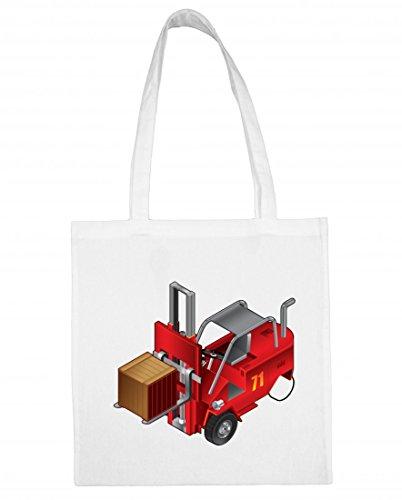 Jutebeutel Gabelstapler- LKW- Auto- Aufzug- Fahrzeug- Fabrik- Verkehr- LAGERUNG- Arbeit- FRACHT- Industrie Baumwolltasche Einkaufstasche