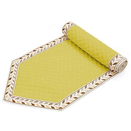 WXGM Chemin de Table, Style européen Jaune, Tissu de Polyester sélectionné, Confortable et Respirant, différentes Tailles (Couleur : Jaune, Taille : 30×150CM)