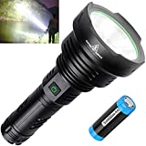 BERCOL Rechargeable LED Tactical Flashlights High Lumens , Super Bright 100000 Lumens Handheld Flashlight with 26650 Battery for Camping/Hiking/Hunting/Emergencies