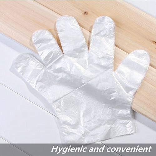 50/100 STK. Set Lebensmittel Plastikhandschuhe Umweltfreundliche Einweghandschuhe für Restaurant Hotel BBQ Lebensmittel Plastikhandschuhe Küchenhandschuhe