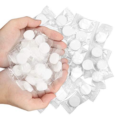 LAITER 200pcs Toallas Comprimidas Portátiles Mini pañuelos Forma de Moneda Toallas Comprimidas en Pastillas Compactos Desechables Toallas para Limpieza Facial Lavar Manos para Interiores Exteriores