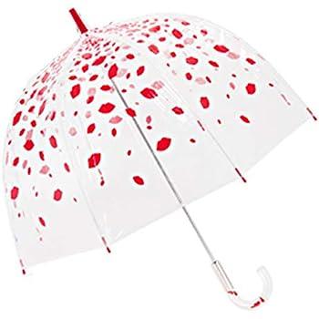 fulton 傘 雨傘 バードケージ birdcage ビニール傘 長傘 英国王室御用達 ルル ギネス Lulu Guinness UK デザイナーコラボ 傘 プレゼント ギフト かわいいブランド レイニングリップス