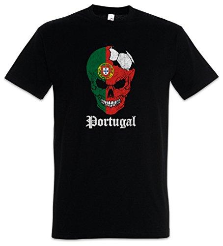 Urban Backwoods Portugal Football Skull I Camiseta De Hombre T-Shirt