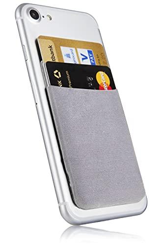 MyGadget Portafoglio per Smartphone - Protezione RFID e NFC – Porta Carte di Credito Cuffie o Soldi per Cellulare Apple iPhone, Samsung, Huawei - Argento