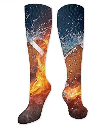 NA - Calcetines de compresión para mujer y hombre con rodilla de fuego, para mujer y hombre, los mejores calcetines médicos, de enfermería, de viaje y vuelo - Running & Fitness