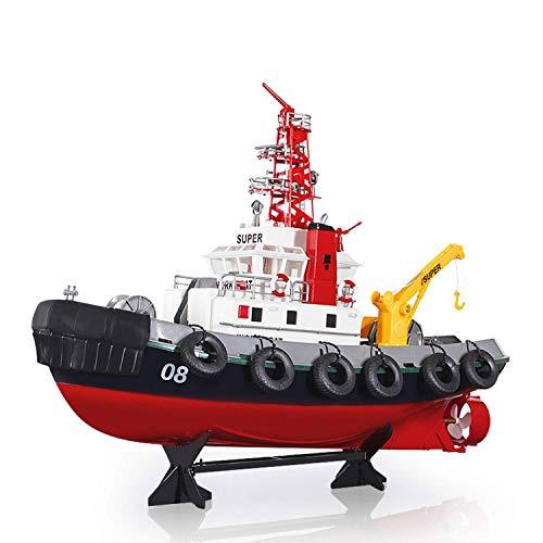 Modelo de barco 2.4Ghz Control remoto Barco de simulación Modelo de barco Radio Juguete Barco de bomberos Piscina de alta velocidad Función de pulverización de agua del lago Juguetes de control remoto