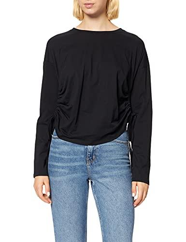 NA-KD Drawstring Detailed Top Camisa, Negro, 2XS para Mujer