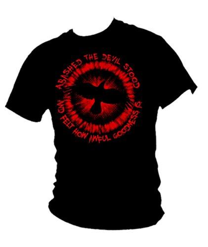 """""""THE Crow-t-bird ABASHED le diable film avec citation t-shirt pour homme - Noir - Large"""
