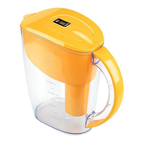 Generic Büro Alkalische Wasser Filter Krug 3,5 L 7 Stufen Aktivkohle Netto Wasserkocher Wasserfilter, Food Grade Kunststoff - Gelb