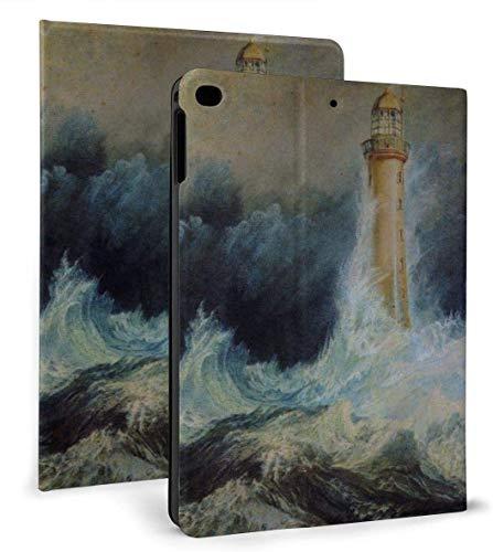 Cool Stormy Waters Lighthouse Funda Inteligente de Cuero PU Función de Reposo / activación automática para iPad Mini 4/5 7,9 'y iPad Air 1/2 9,7' Funda